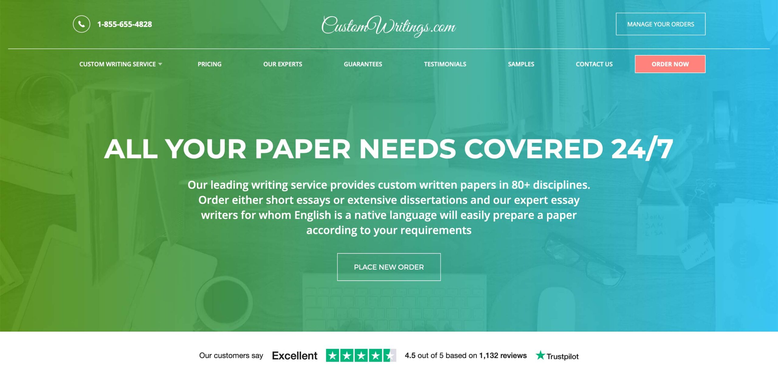 CustomWritings.com website