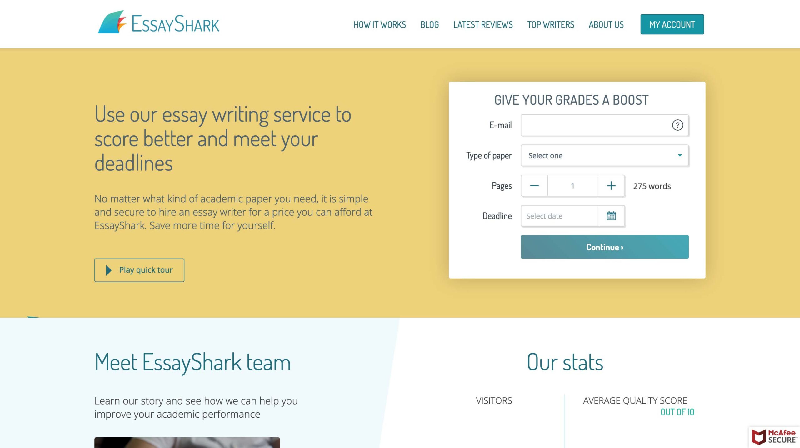EssayShark.com website