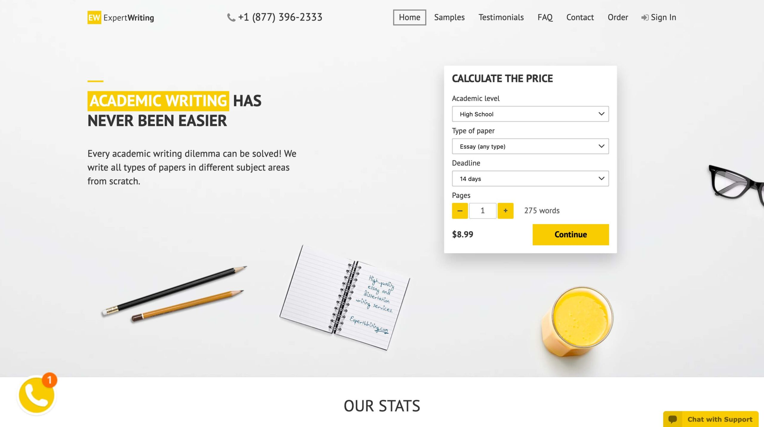 ExpertWriting.org website