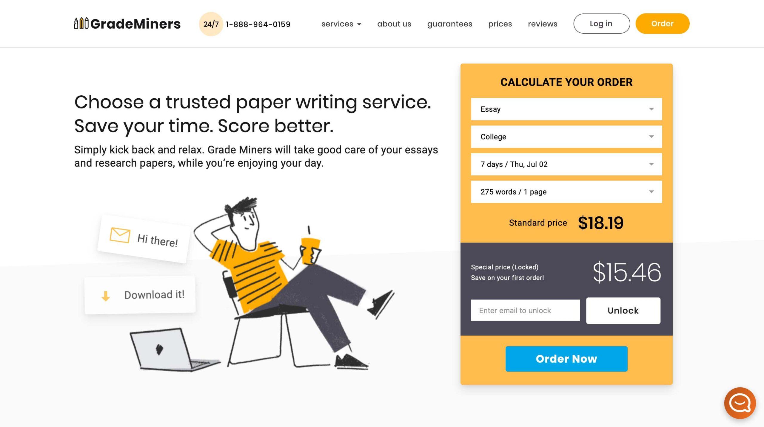 GradeMiners.com website